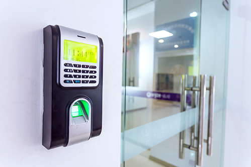 Picture of access control system on wall
