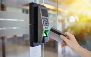 Picture of person using access card on card reader