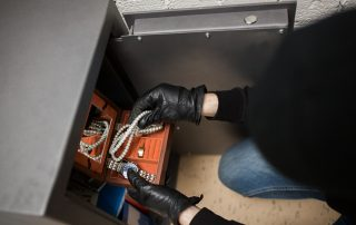 Burglar breaking into a Safe